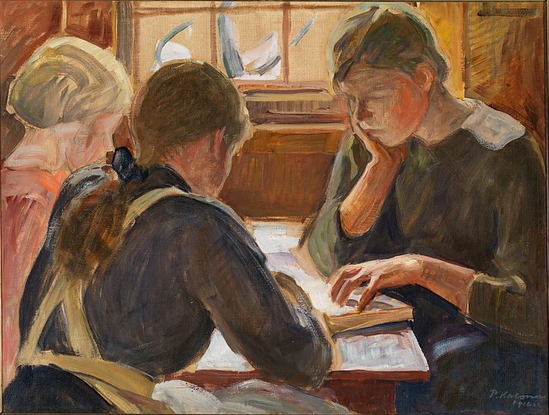 Halonen,_Pekka_-_Children_reading_-_Google_Art_Project